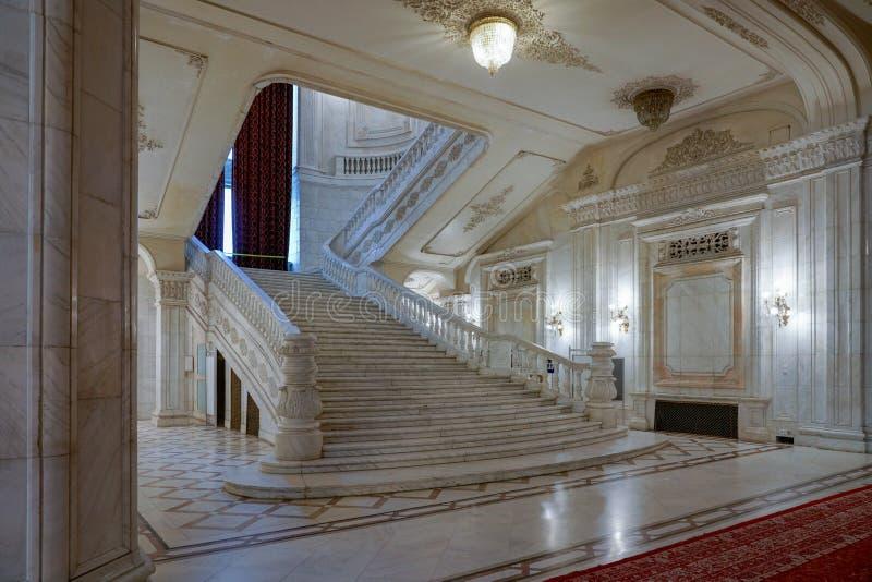 BUCHAREST/ROMANIA - SEPTEMBER 21: Inre sikt av slottnollan royaltyfria bilder