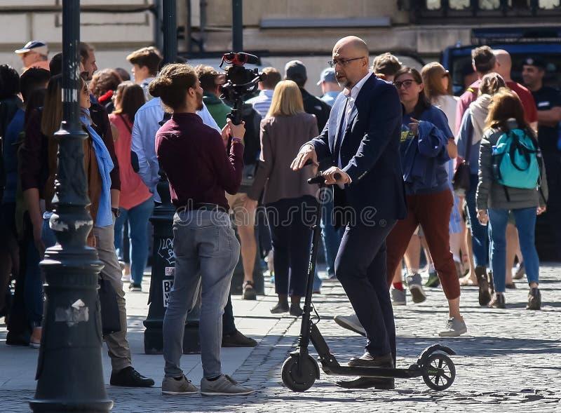 Kelemen Hunor - race for the presidential mandate - Romanian politics. Bucharest, Romania - September 21, 2019: Kelemen Hunor, the president of The Democratic stock photography