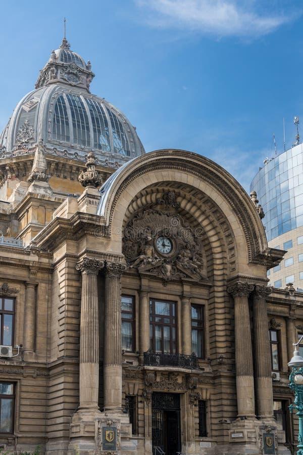 BUCHAREST/ROMANIA - 21 SEPTEMBRE : Sièges sociaux de CEC Bank à B image stock