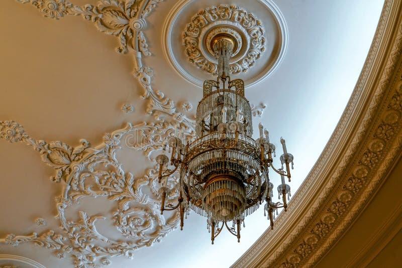 BUCHAREST/ROMANIA - 21 SEPTEMBRE : Vue intérieure du palais o image libre de droits