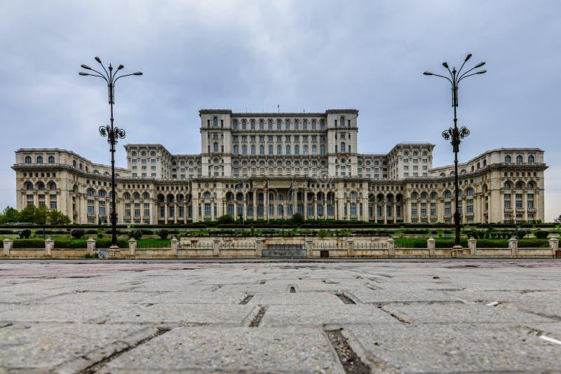 BUCHAREST RUMUNIA, PAŹDZIERNIK, - 25, 2015: Pałac parlament, al zdjęcie stock