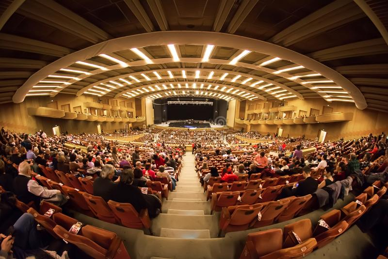 Bucharest Sala Palatului filharmonii wnętrze zdjęcie stock