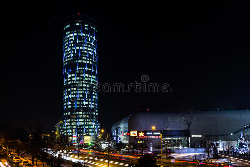 Bucharest Sky Tower royalty free stock photo