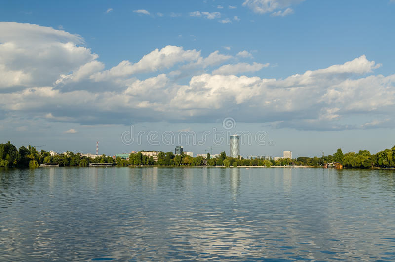 Bucharest Skyline stock photography