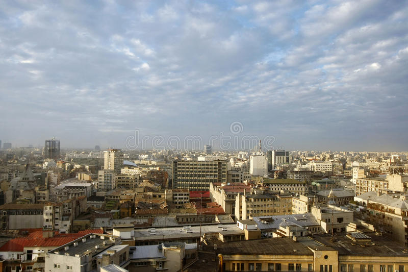 Bucharest-Stadtbild lizenzfreies stockfoto