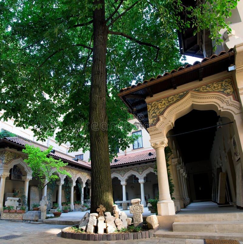 Bucharest - Stavropoleos Kloster lizenzfreies stockfoto