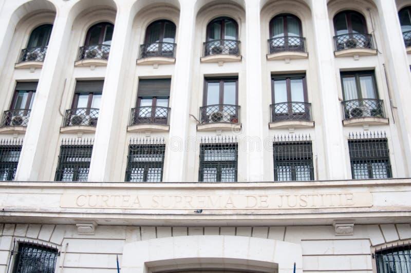 Bucharest supreme court. The imposing bucharest supreme court facade stock photos