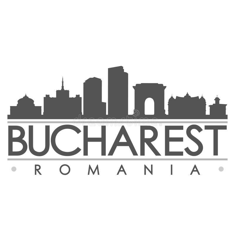 Bucharest sylwetki projekta miasta wektoru sztuka royalty ilustracja