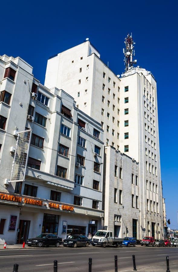 Bucharest Telephone Palace, Romania stock photo