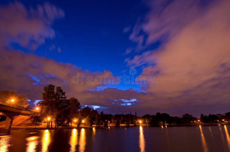 Bucharest - Tineretului Park and lake royalty free stock photo
