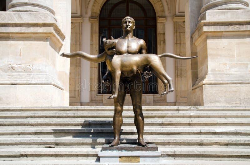 Bucharest - Trajan Statue royalty free stock photos