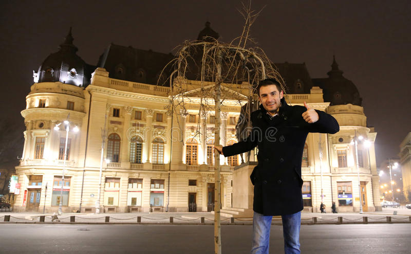 Bucharest traveler: Central Universitary Library royalty free stock photo