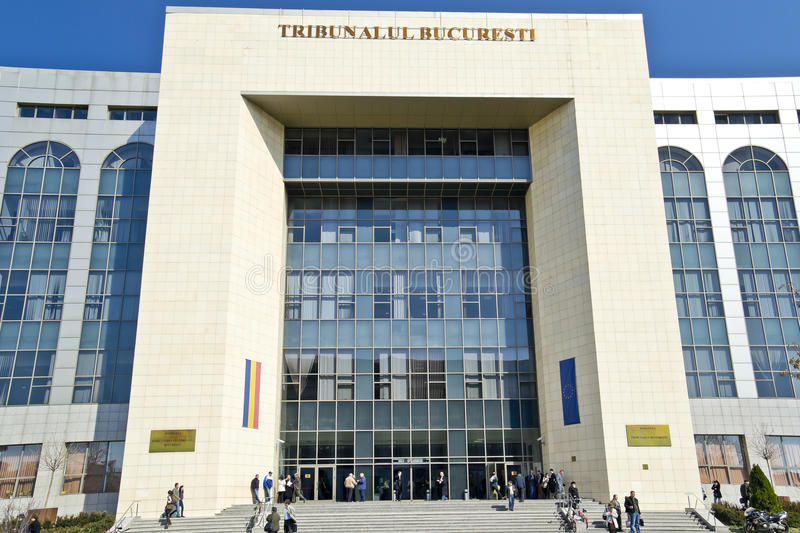 Download Bucharest Tribunal editorial photo. Image of forum, blue - 24040916