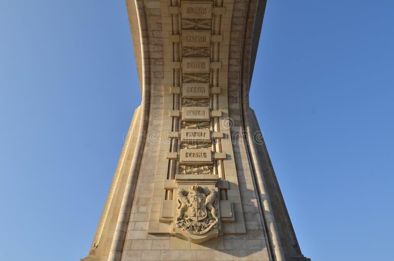 Bucharest Triumfalnego łuku szczegół zdjęcia royalty free