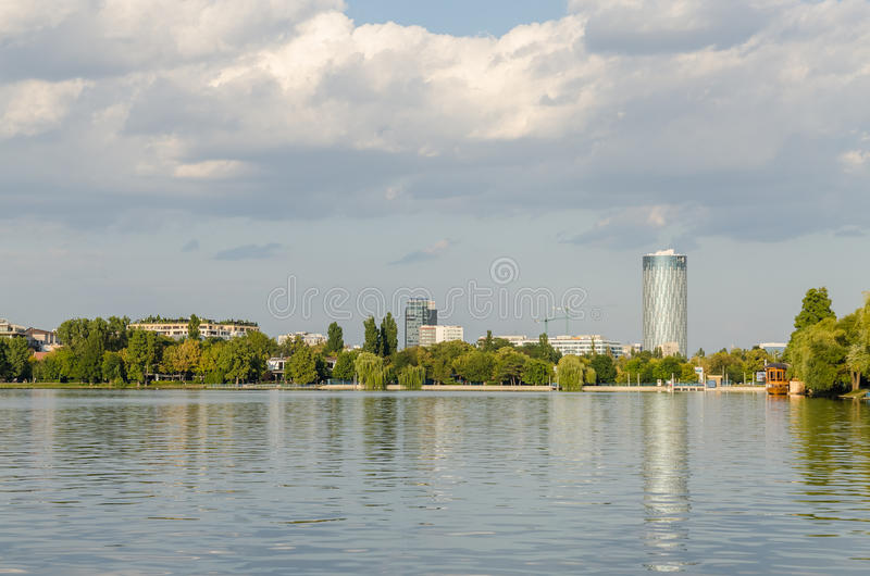 Bucharest View From Herastrau Park royalty free stock image