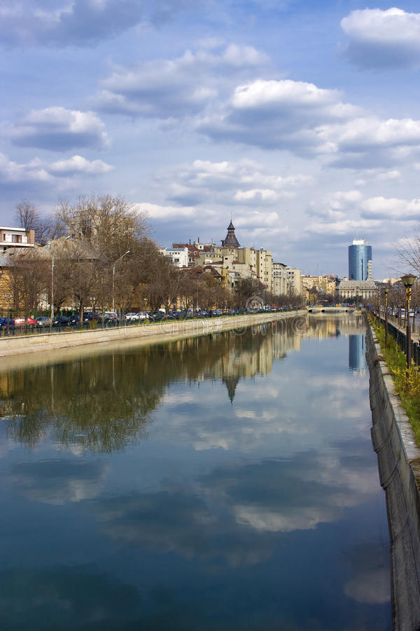 Download Bucharest - View Over Dambovita River Stock Image - Image: 9635227