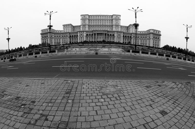 Bucharest view - Palace of the Parliament stock photo
