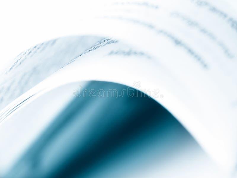Buchauszug. lizenzfreies stockbild