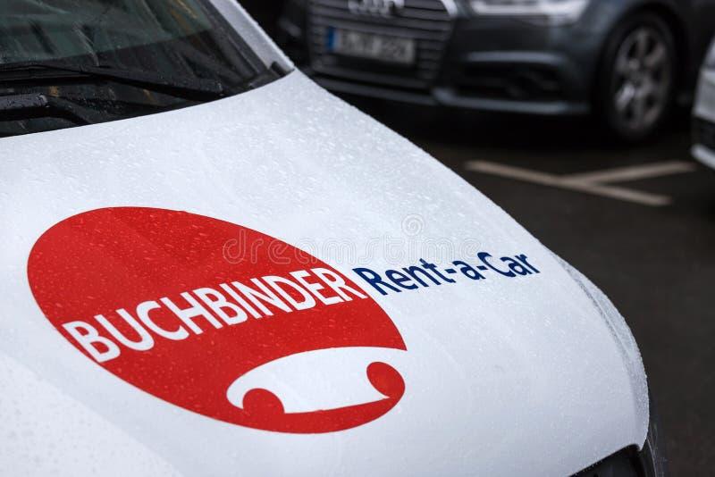 Buchbinder affitta un'automobile firma a Berlino Germania immagine stock libera da diritti