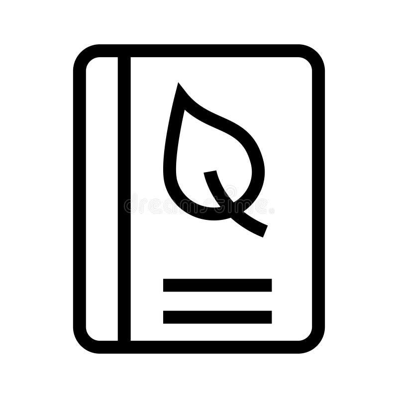 Buchblattlinie Ikone stock abbildung