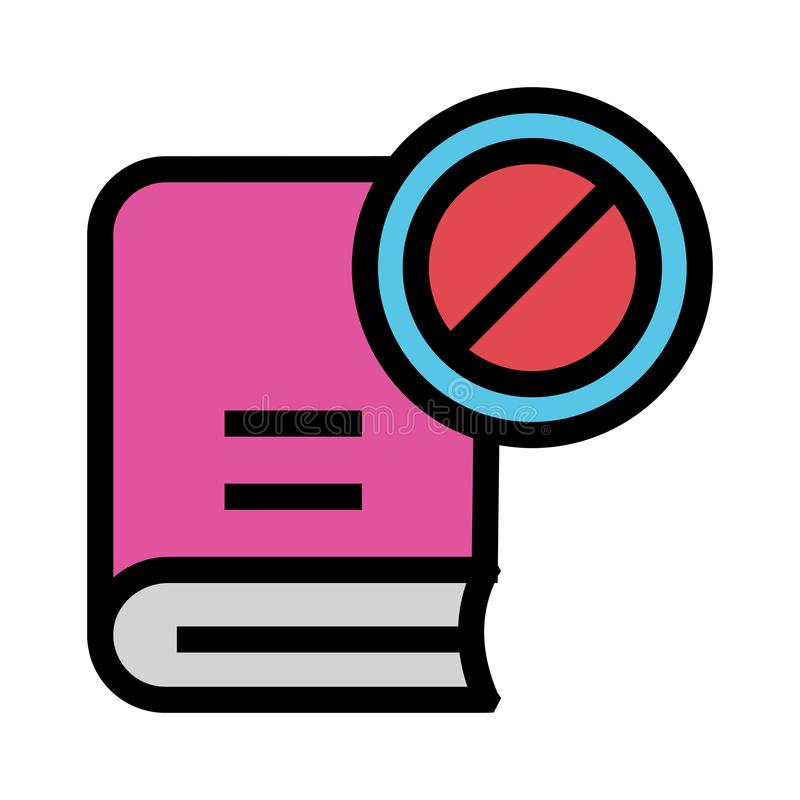 Buchblock-Farblinieikone lizenzfreie abbildung