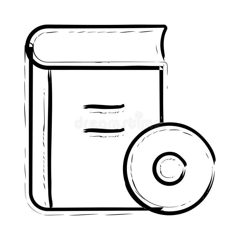 Buchdiskettenikone stock abbildung