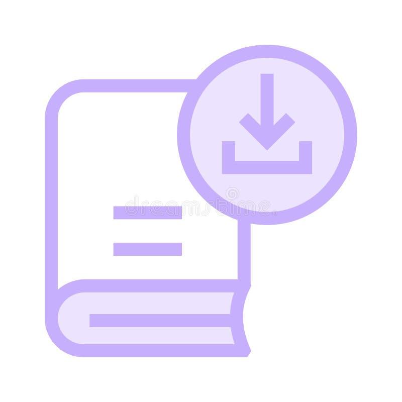 Buchdownload-Farblinieikone stock abbildung