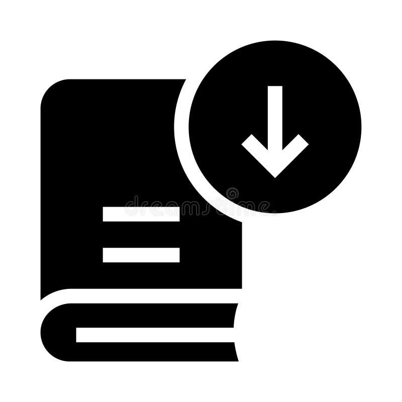 Buchdownload Glyphsikone vektor abbildung