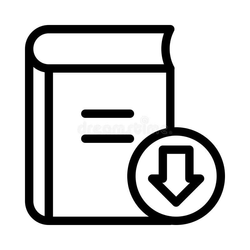 Buchdownloadikone stock abbildung