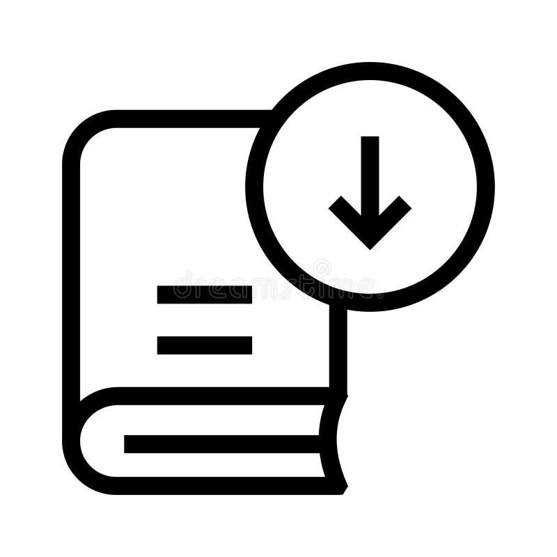 Buchdownloadlinie Ikone vektor abbildung