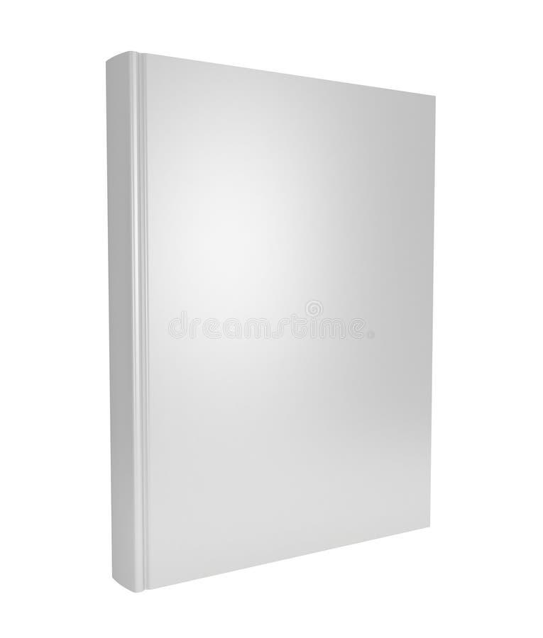 Bucheinband des freien Raumes 3D über weißem Hintergrund stock abbildung