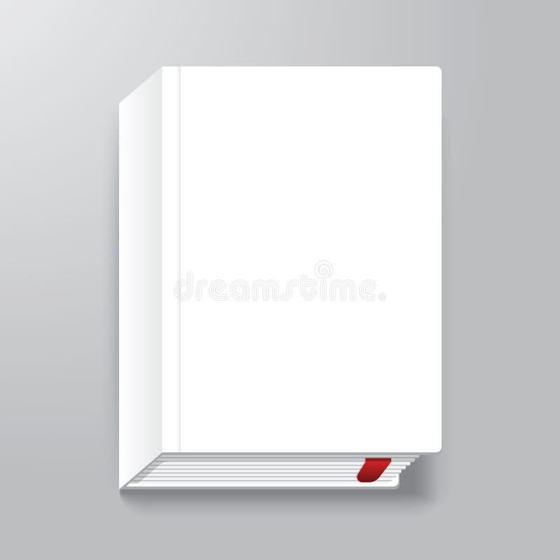 Bucheinband-Design-Art-Schablone/kann für EBook-Abdeckung benutzt werden stock abbildung