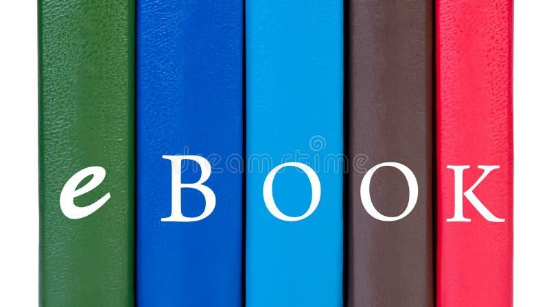 Bucheinband-Wort ebook. lizenzfreie stockfotos