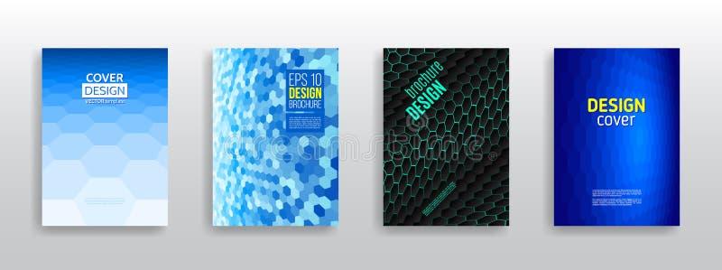 Bucheinbandplan Moderne einfache geometrische Schablone für Geschäft lizenzfreie abbildung