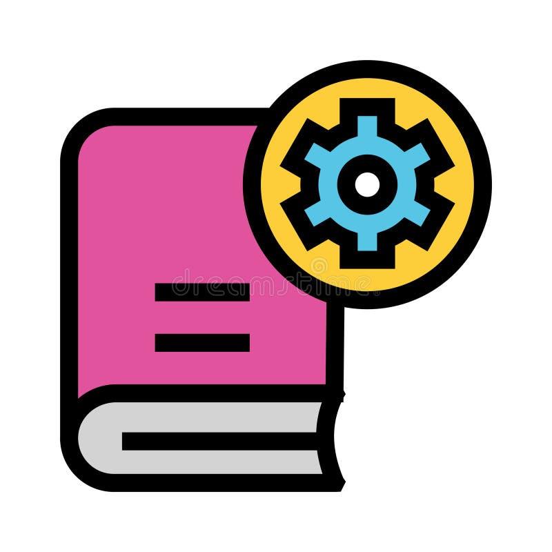 Bucheinstellungs-Farblinieikone lizenzfreie abbildung