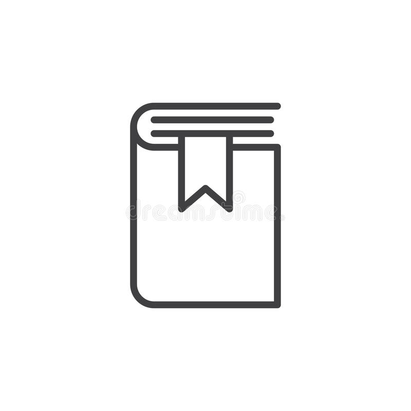 Buchen Sie Bookmarklinie Ikone, Entwurfsvektorzeichen vektor abbildung
