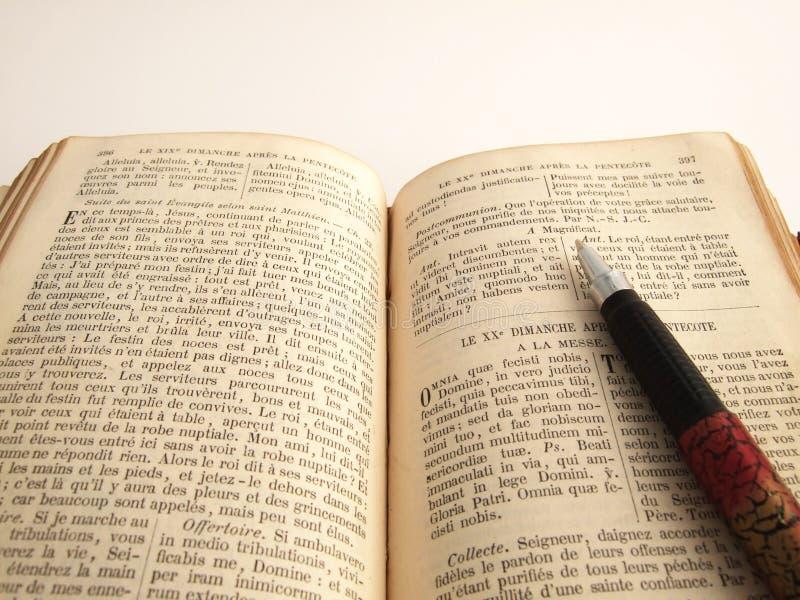 Buchen Sie Einen Stift Stockfoto