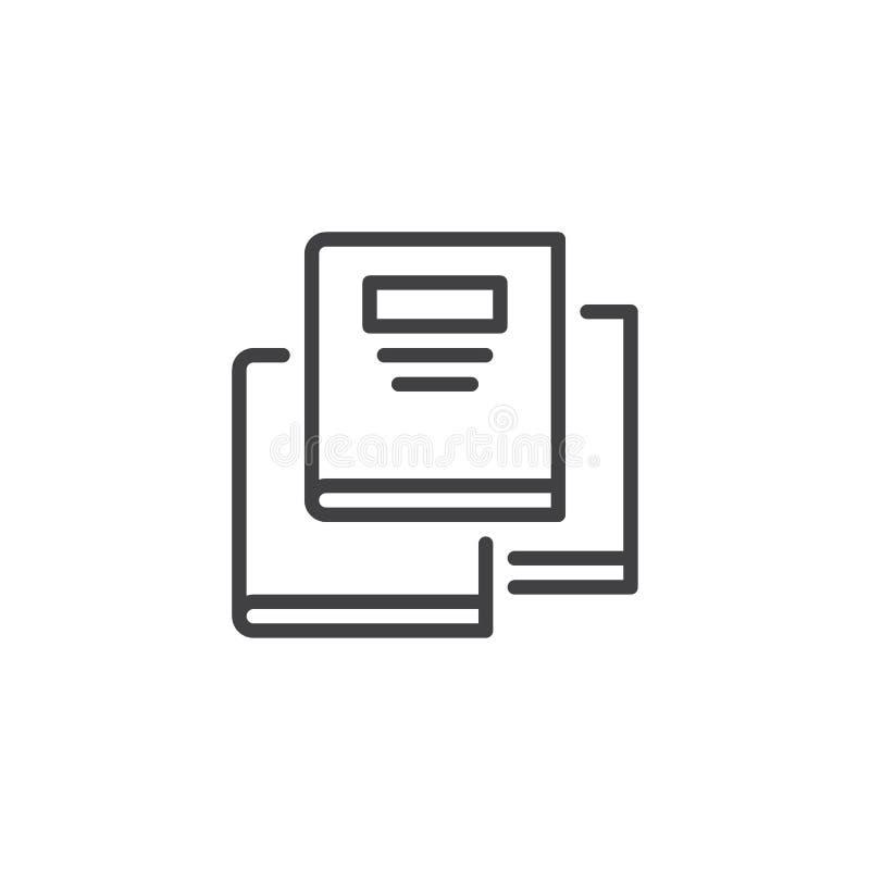 Buchentwurfsikone vektor abbildung