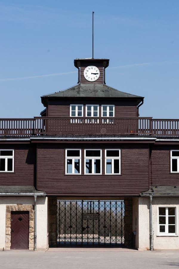 buchenwald阵营门 免版税库存照片