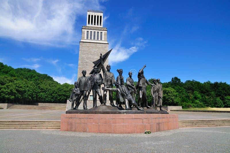 Buchenwald Holocaust Memorial stock photo