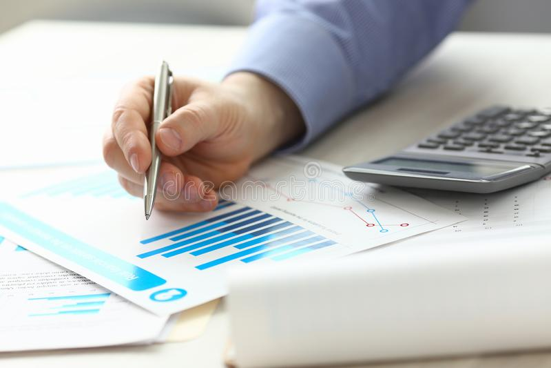 Buchhalter-Manager Controlling Expense Income lizenzfreies stockbild