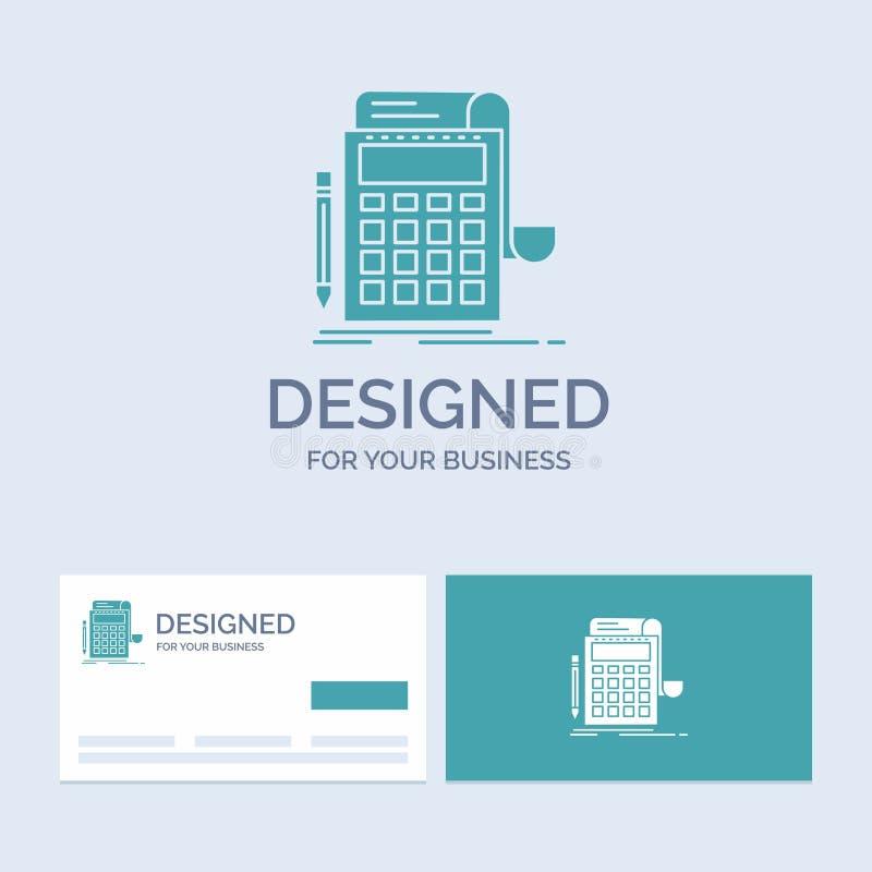 Buchhaltung, Rechnungsprüfung, Bankwesen, Berechnung, Taschenrechner Geschäft Logo Glyph Icon Symbol für Ihr Geschäft T?rkis-Visi stock abbildung