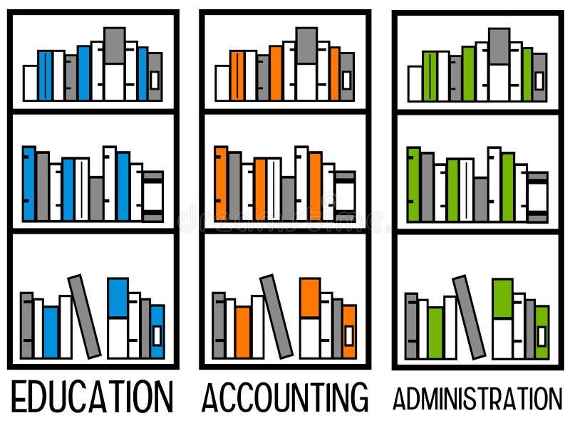Buchhaltung und Verwaltung lizenzfreie abbildung
