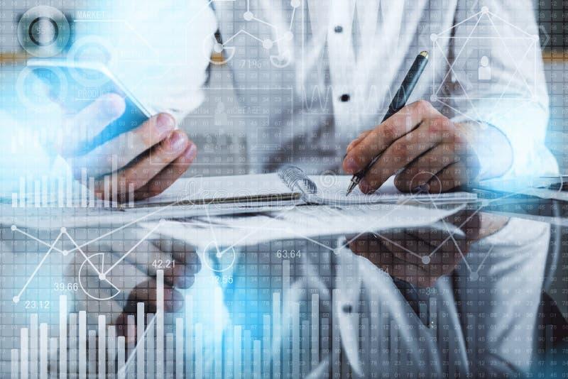 Buchhaltungs- und Innovationskonzept stockbilder