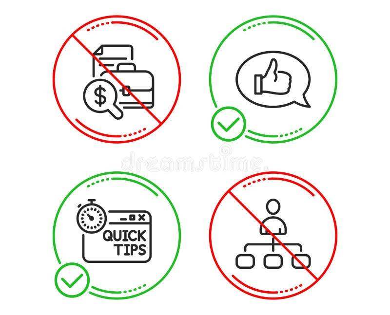 Buchhaltungsbericht, Feedback und schneller Spitzenikonensatz Management-Zeichen Vektor stock abbildung