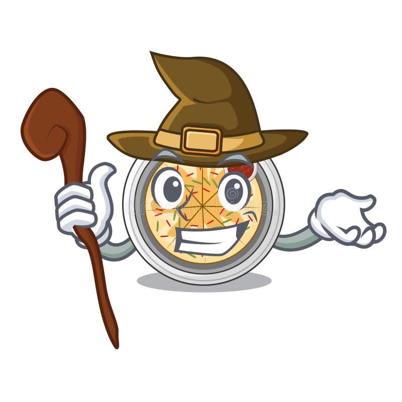 Buchimgae da bruxa isolados com na mascote ilustração royalty free