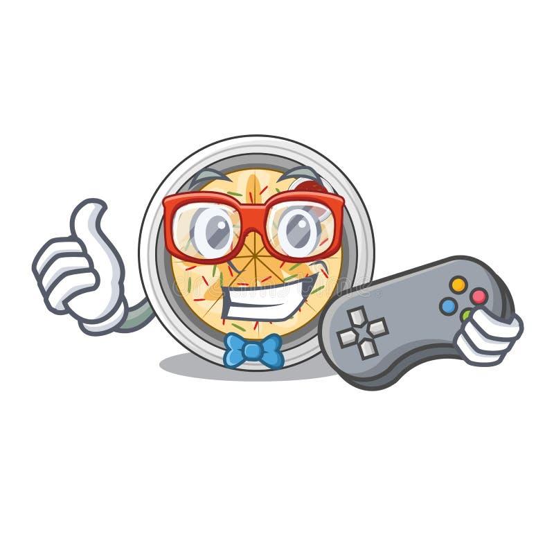 Buchimgae do Gamer isolados com na mascote ilustração stock
