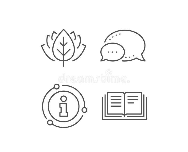 Buchlinie Ikone Bildungssymbol Vektor lizenzfreie abbildung
