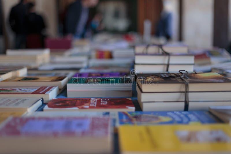 Buchmesse in Vitoria-Stadt, Buch ` s Tag feiernd lizenzfreies stockfoto