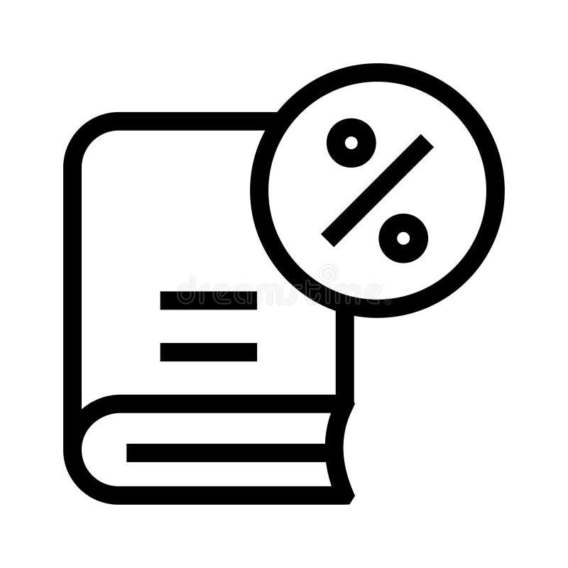 Buchprozentsatzlinie Ikone vektor abbildung